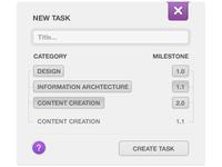 New task modal box. wip