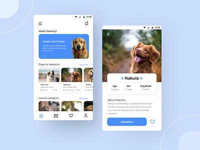 Pet App Design exploration uidesign app design app ui animals pets