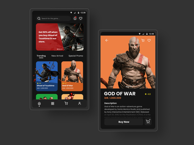 PS4 CD Store App games game design uidesign store app dark ui minimalist black