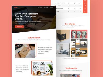 Sribu Landing Page minimalist freelancer webdesign landingpage sribu