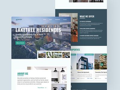 Laketree Residences Landing Page minimalist landingpage rent residence