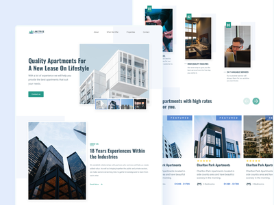 Apartments Agency Landing Page modern minimalist ui design landing page apartments real estate design hero section web design