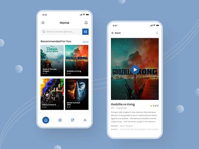 Movie Streaming App movie app streaming app ui minimalist videos mobile design ui design movie streaming