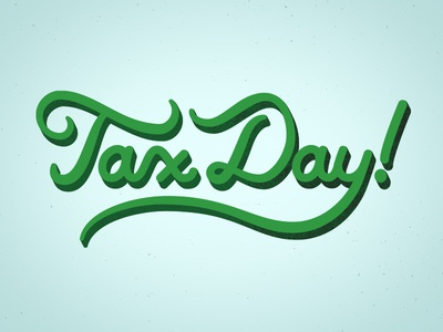 Tax Day Lettering