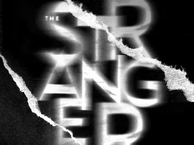 The Stranger concept paper tear book cover photography typography type experimental poster