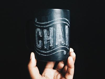 Chalk Mug Lettering letterring hand lettering typography chalk mug type