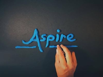 Clay Type: Aspire lettering blue aspire hand made hand type typography type clay