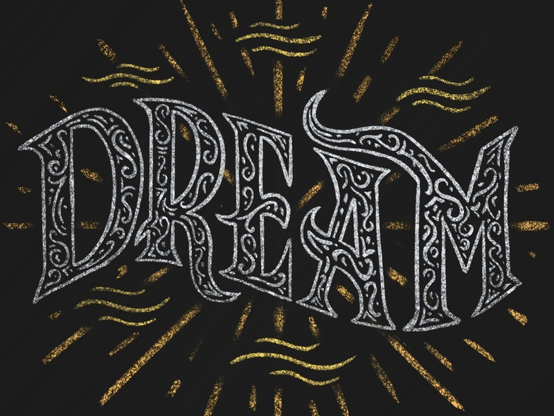 Dream experimental illustration drawn type letters hand lettering lettering typography type