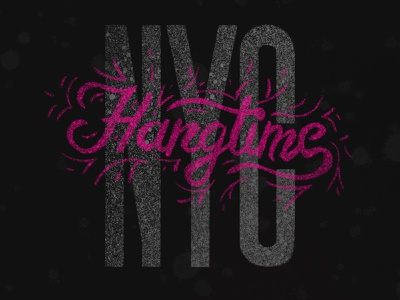 NYC Hangtime / Submission hangtime script letter illustration experimental drawn type letters hand lettering lettering typography type