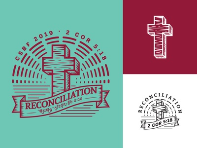 2019 Church Conference Brand illustration etching cross church logo church design church branding church