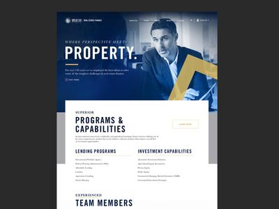 Real Estate Finance | Concept real estate finance pitch website concept