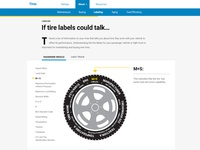 Interactive Tires Graphic visualization car tire interactive