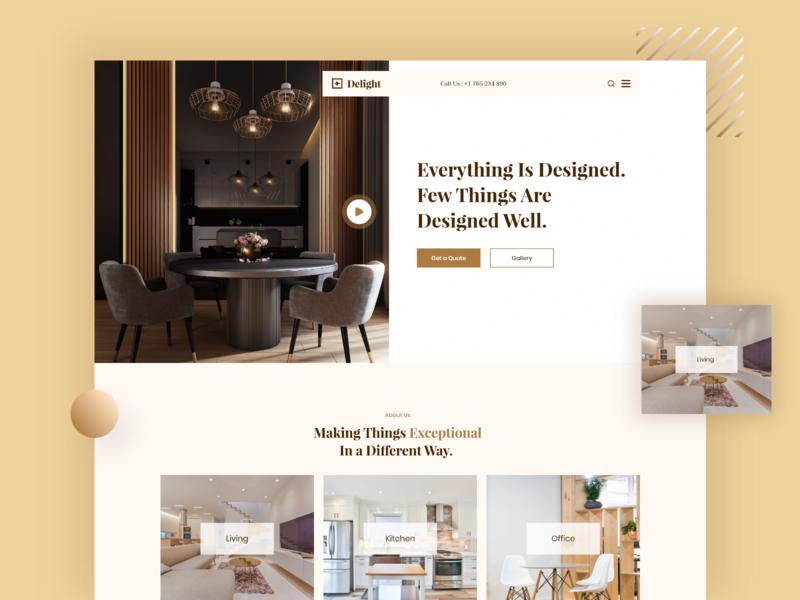 Interior Design Firm - WebUI new design trendy design website webui
