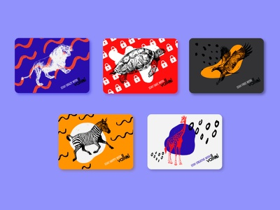 Quirky and colourful cards card design cards branding graphic design illustration vector design