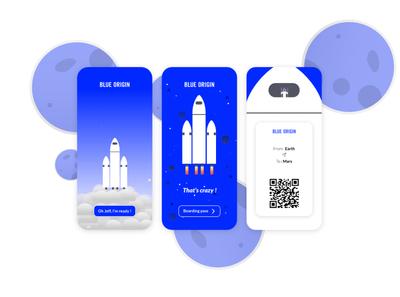 DailyUI - 023 / Blue origin onboarding app