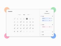 DailyUI - 038 / Calendar for home device