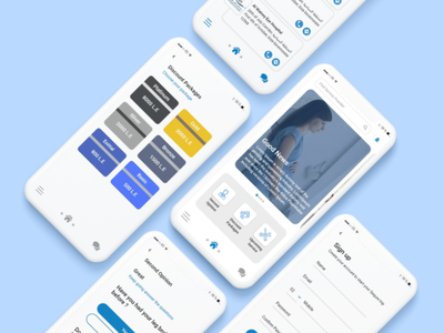 Mobile App for Medical Service design design art digitalart web ux app ui branding design daily