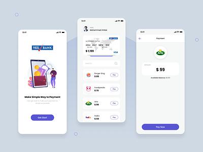 Payment Mobile App Design app design graphic design ui ux design bank