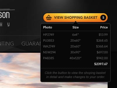 View Shopping Basket button yellow dark black cart shopping