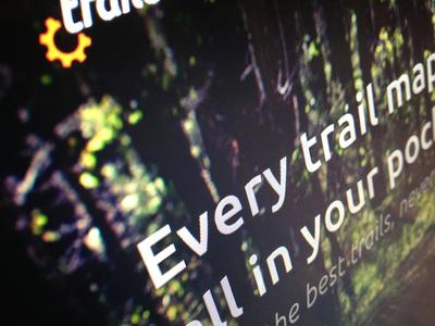 Trails photo trail photoshop orange outside green website web design mountain bike