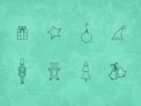 Holiday Line Icons