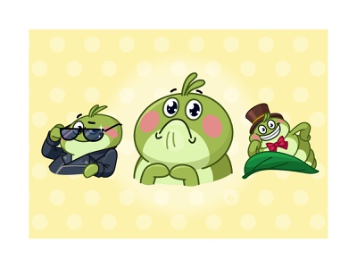 Greenleaf Greg telegramstickers caterpillar sticker telegram cartoon character vector