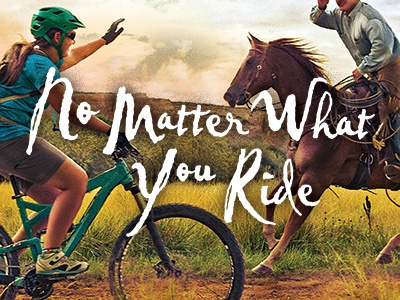 No matter what you ride mountain bike horse texture hdr healthcare health care hospital sunset advertisment