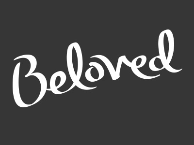 Beloved lettering