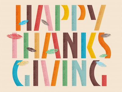 Happy Thanksgiving happy thanksgiving fall feathers color custom typography autumn