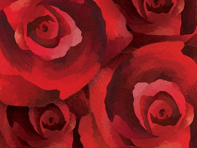 Roses red roses texture paint brush pattern