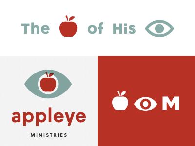 Appleye Ministries red wip identity logo eye apple