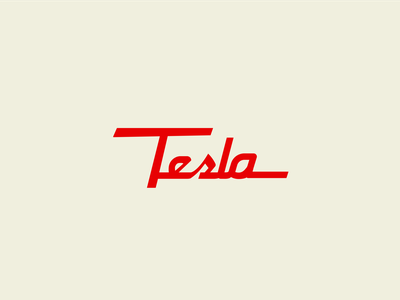Tesla retro logo logotype logo vintage retro tesla type typography design typedesign lettering graphic design