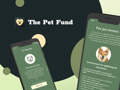 Redesign The Pet Fund Case pet fund redesign ui figma design donation green light dog cat pets donate