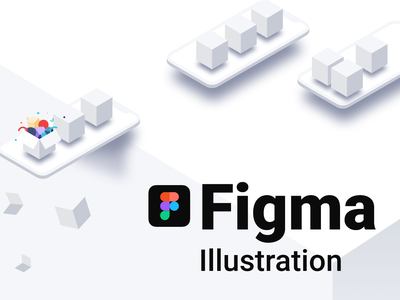 Figma isometric illustration illustration landing design system design service ui figma