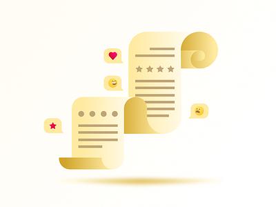 Feedback illustration v. 2.0 ui rating illustration gradient feedback emoji design figma
