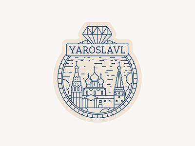 Sticker for Yaroslavl, Russia sticker illustration design figma ui