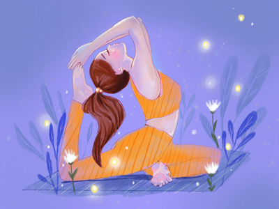 Yoga Illustration digital art art illustrator illustration