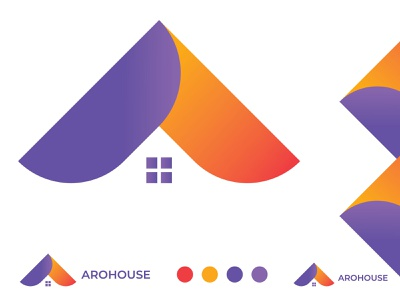 arohouse logo design professional logo professional brand branding abstract modern logo design modern logo modern home logo design home decor home logo houses logo house logo arrows logo arrow logo home houses house arrows arrow