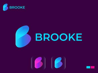 BROOKE logo concept logo idea blue gradient color gradient logo brooklyn modernlogos modernlogo modern letter logo logo logos branding design brand identity logodesign modern logo logo design brand branding brooke