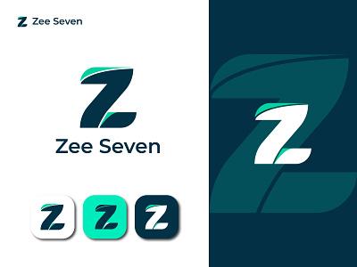 Zee Seven Logo lettermarks lettermark logo lettermark zee seven logo 7 logo 7 letter logo z letter logo z letter zee logo z logo letter logo abstract logo modern logo branding design brand identity awesome logo clean logo logo design brand branding