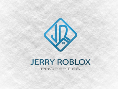 Jerry Roblox - Properties -  Real Estate -  Construction logo brand and identity brand design brand identity branding brand minimal minimalist minimalist logo home logo construction branding real estate real estate branding real estate agency real estate agent real estate logo realestate construction logo construction company construction