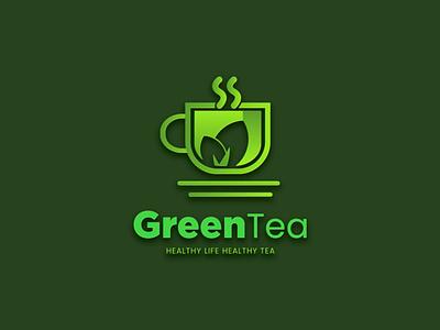 Green tea logo - cafe logo modern logo 3d logo 3d logo design logo branding logo design branding logo brand identity brand drink cook logo coffee shop logo coffee shop cafe logo resturant logo drink logo food logo green tea green tea logo tea logo