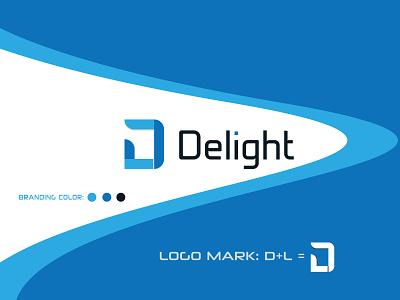 Delight Logo blue logo colorful design colorfull colorful logo d letter logo l letter logo lettering logos logotype logo letter logo logodesign branding design modern logo awesome logo clean logo brand identity logo design branding brand