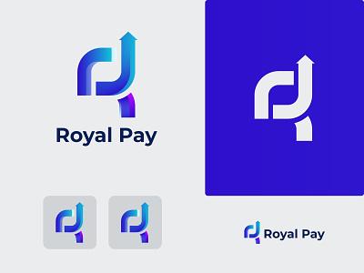 R Letter Logo - Royal pay logo clean logo brand identity logo design branding brand graphic design modern modern logo gradient gradient logo royal pay logo royal logo royal pay logo pay r logo design r letter r letter logo rlogo r