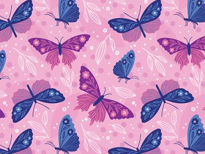 Butterflies pattern butterfly butterflies spring floral art surface pattern greeting card illustration