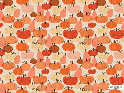 Pumpkin Patch autumn fall pumpkin patch pumpkin pumpkins greeting card surface pattern illustration