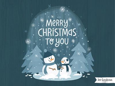 Christmas Snowmen snow snowman snowmen christmas hand lettered typography greeting card hand lettering illustration