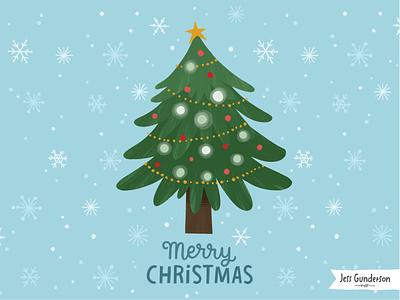 Merry Christmas snowflakes christmas card merry christmas ornaments christmas tree christmas