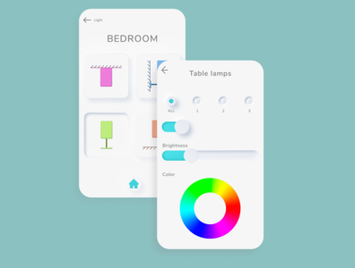 "DailyUI 007 ""Settings Smart Home Light System App"" setting minimal web design ui daily 100 challenge dailyuichallenge dailyui"
