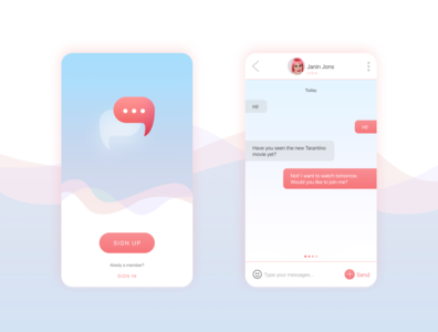 "DailyUI 013 ""Direct Messaging"" direct messaging app web ui dailyuichallenge dailyui"